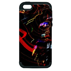 Night View Night Chaos Line City Apple Iphone 5 Hardshell Case (pc+silicone)