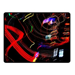 Night View Night Chaos Line City Double Sided Fleece Blanket (small)