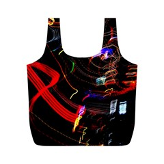 Night View Night Chaos Line City Full Print Recycle Bags (m)