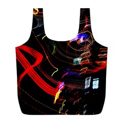 Night View Night Chaos Line City Full Print Recycle Bags (l)