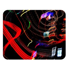 Night View Night Chaos Line City Double Sided Flano Blanket (large)