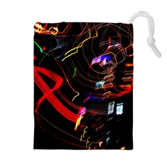 Night View Night Chaos Line City Drawstring Pouches (extra Large)