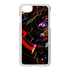 Night View Night Chaos Line City Apple Iphone 7 Seamless Case (white)