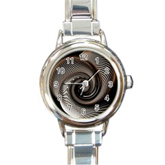 Abstract Background Curves Round Italian Charm Watch