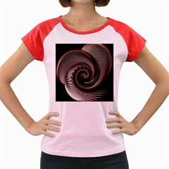 Abstract Background Curves Women s Cap Sleeve T-Shirt