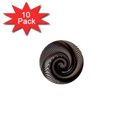 Abstract Background Curves 1  Mini Magnet (10 Pack)