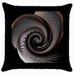 Abstract Background Curves Throw Pillow Case (Black)