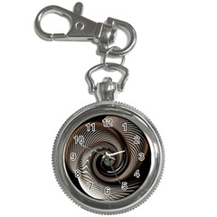 Abstract Background Curves Key Chain Watches