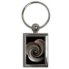 Abstract Background Curves Key Chains (rectangle)