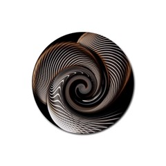 Abstract Background Curves Rubber Round Coaster (4 Pack)