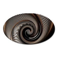 Abstract Background Curves Oval Magnet