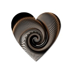 Abstract Background Curves Heart Magnet