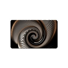 Abstract Background Curves Magnet (name Card)