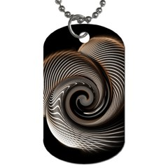 Abstract Background Curves Dog Tag (one Side)