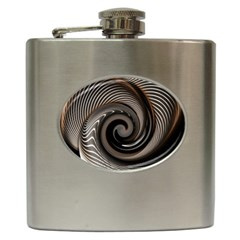 Abstract Background Curves Hip Flask (6 Oz)