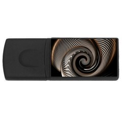 Abstract Background Curves USB Flash Drive Rectangular (1 GB)