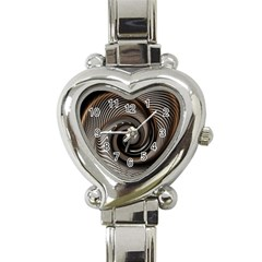 Abstract Background Curves Heart Italian Charm Watch