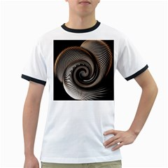 Abstract Background Curves Ringer T Shirts