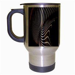 Abstract Background Curves Travel Mug (silver Gray)