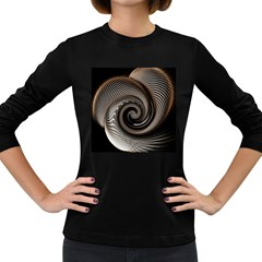 Abstract Background Curves Women s Long Sleeve Dark T Shirts