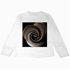 Abstract Background Curves Kids Long Sleeve T Shirts
