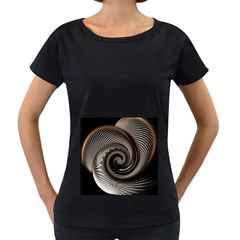 Abstract Background Curves Women s Loose Fit T Shirt (black)