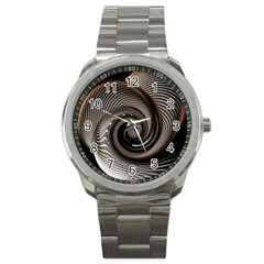 Abstract Background Curves Sport Metal Watch