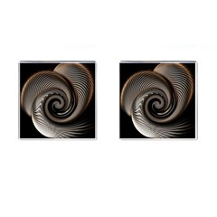 Abstract Background Curves Cufflinks (square)