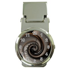 Abstract Background Curves Money Clip Watches