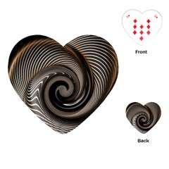 Abstract Background Curves Playing Cards (heart)