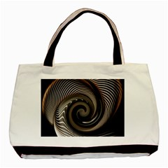 Abstract Background Curves Basic Tote Bag