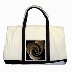 Abstract Background Curves Two Tone Tote Bag