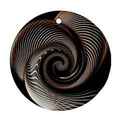 Abstract Background Curves Round Ornament (two Sides)