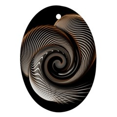 Abstract Background Curves Oval Ornament (Two Sides)