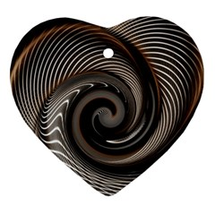 Abstract Background Curves Heart Ornament (two Sides)