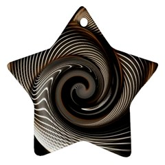 Abstract Background Curves Star Ornament (Two Sides)