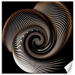 Abstract Background Curves Canvas 16  X 16