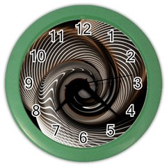 Abstract Background Curves Color Wall Clocks