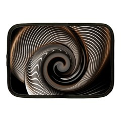 Abstract Background Curves Netbook Case (medium)