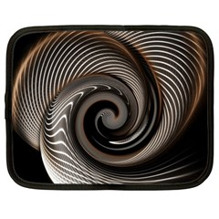 Abstract Background Curves Netbook Case (large)