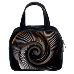 Abstract Background Curves Classic Handbags (2 Sides)