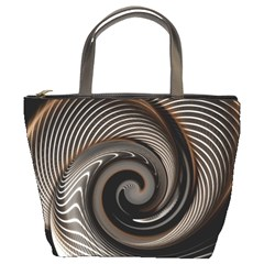 Abstract Background Curves Bucket Bags