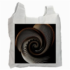 Abstract Background Curves Recycle Bag (One Side)