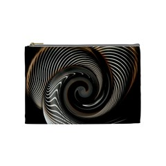 Abstract Background Curves Cosmetic Bag (medium)