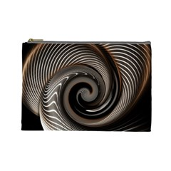 Abstract Background Curves Cosmetic Bag (large)
