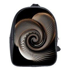 Abstract Background Curves School Bags(large)