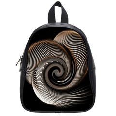 Abstract Background Curves School Bags (small)