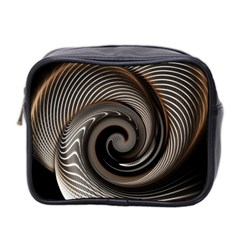 Abstract Background Curves Mini Toiletries Bag 2 Side