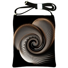 Abstract Background Curves Shoulder Sling Bags