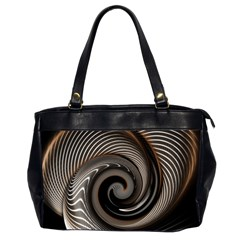 Abstract Background Curves Office Handbags (2 Sides)